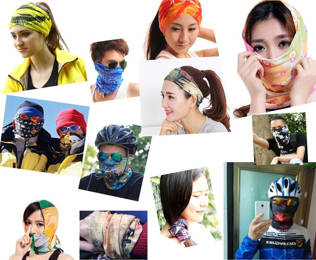 12pcs/lot 701-800 Wholesale Climbing Bicycle Cycling Magic Headband Sport Scarves Cycle Neck Tube Scarf Headwear Bandanas