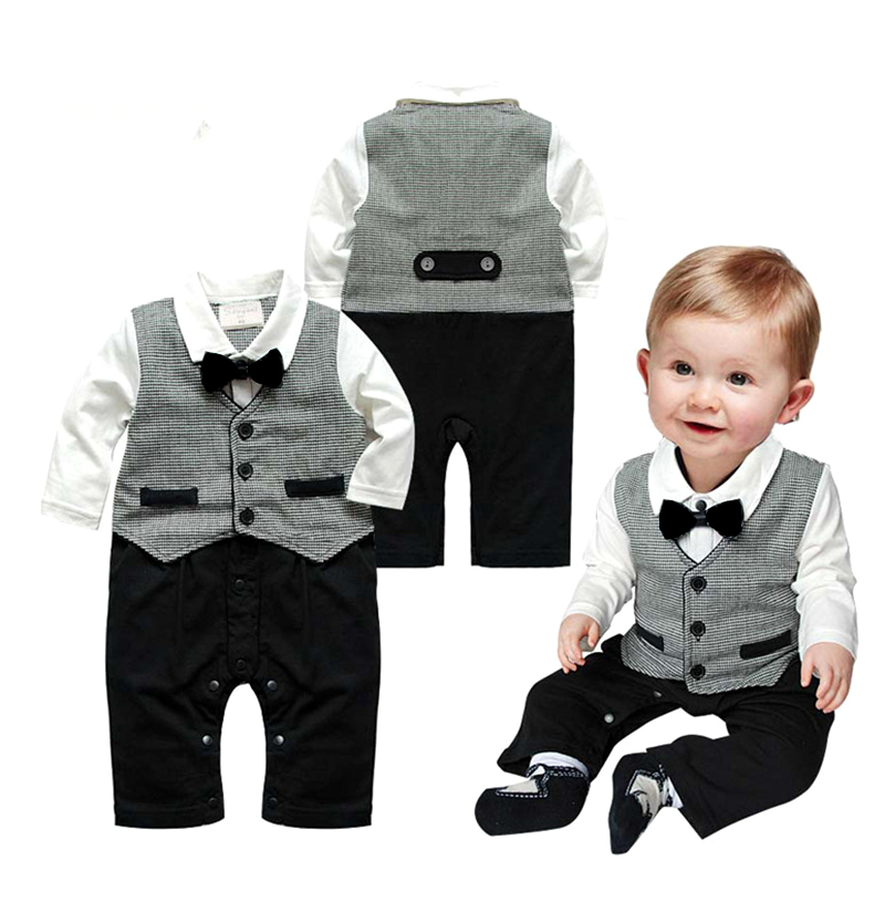 Spring baby romper newborn infant clothing tie gentleman bow leisure overalls baby boys jumpsuits brand clothes roupas de bebes summer baby boy rompers newborn gentleman clothing set cotton bow tie prince leisure costumes infant jumpsuit brand boys clothes