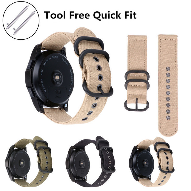 18mm 20mm 22mm 24mm NATO Quick Release Watch Band Straps Nylon Ballistic Straps Canvas Strap for Smart Watch 9.21