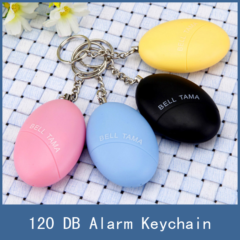1pc Newest Female Portable Self Defense Security Keychain Alarm For Protecting Women Children Kids Elderly Personal Guard Safety personal guard safety security siren alarm with led flashlight white 2 cr2032