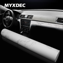 PVC Adhesive Vinyl Film Stickers For Outlet Auto Car Body, Internal Door Interior Decoration Imitation Marble Ceramics