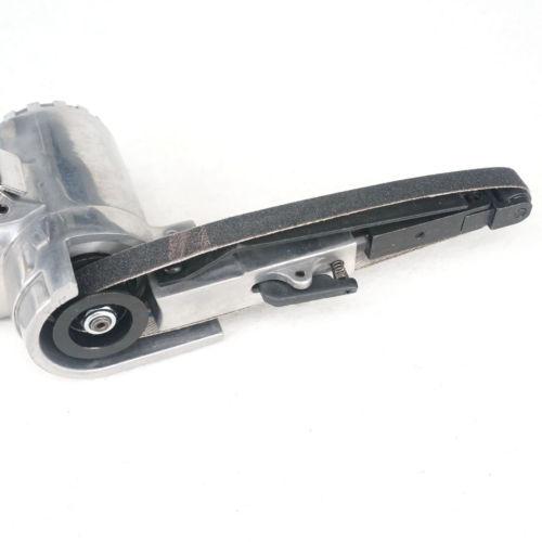 "10mmx330mm Air Belt Sander 1/4"" Air Inlet Pneumatic Belt Machine Mill Gray Machine Polisher Tool 16000RPM"