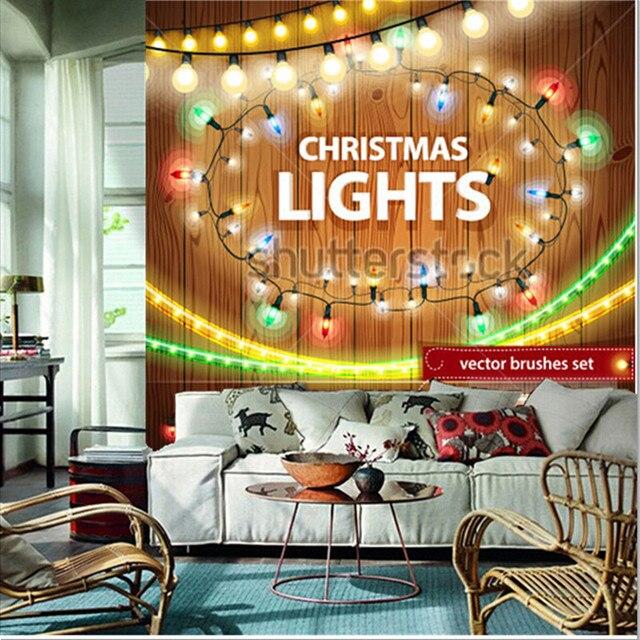 Die Benutzerdefinierte 3D Wandbilder, Weihnachtsbeleuchtung Dekorationen Set  Für Feierliches Design, Wohnzimmer Sofa TV Wand