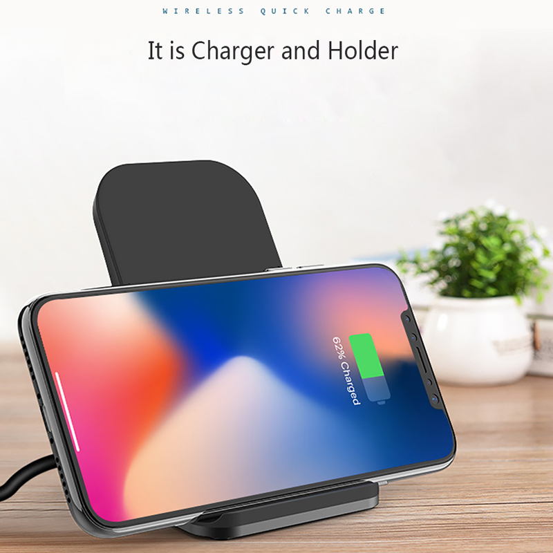 Qi Wireless Charger Stand for iPhone X Xs Max XR 8 Samsung S8 S9 Note 9 Wireless Fast Charging Pad Station Wireless Chargers