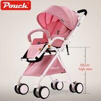 2018 чехол новые детские коляски зрения 5.7 кг зонтик для автомобиля складной нести на самолета непосредственно Минни Размер лицо мамы