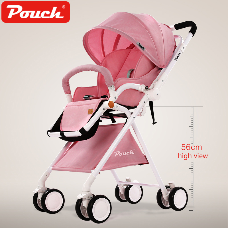 2018 Pouch new baby stroller high view 5.7kg umbrella baby car folding carry on air plane directly Minnie size face mum