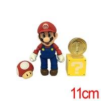 C & F 11 CM Anime SÜPER MARIO BROS. Anime Action Figure Oyuncaklar PVC Mario Luigi Kırmızı Yeşil Cosplay Çıkarılabilir Koleksiyon Oyuncak