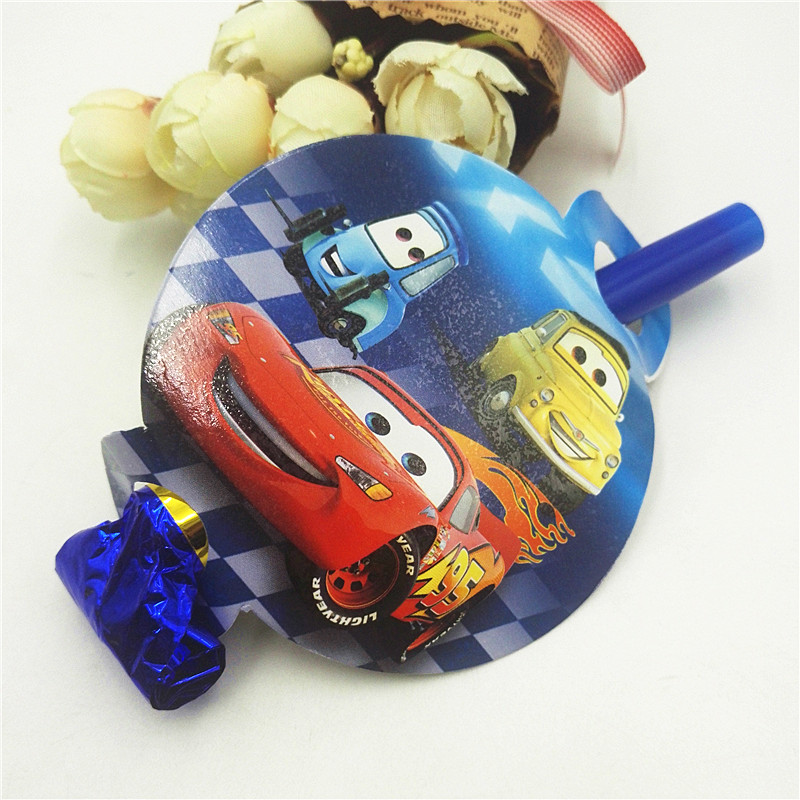 6pcs/lot Mcqueen Party Supplies Noise Maker/Blowout Kids Birthday Decoration Baby Shower For Kids Boys Mcqueen