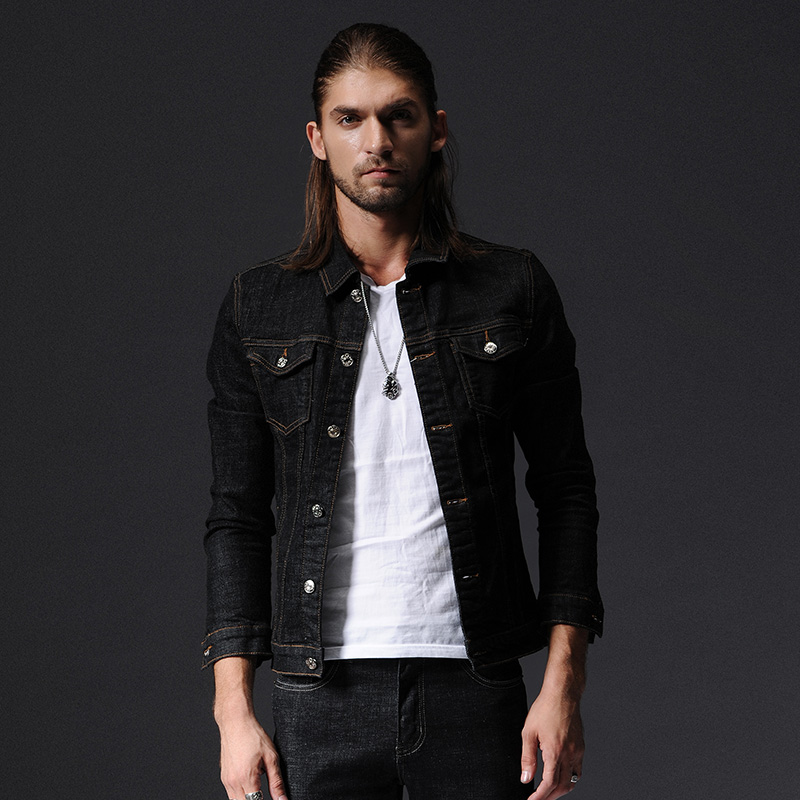 2017 New Spring Autumn Denim Jacket Men Turn Down Collar Fashion ...