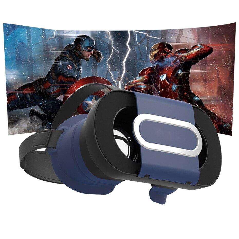 Caja de vr vr gafas de realidad virtual gafas 3d google cartón 360 grados de vis