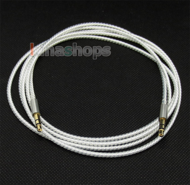1.5m Silver Plated 3.5mm To 3.5mm Earphone Cable For Beyerdynamic Custom one pro Headphone LN004561