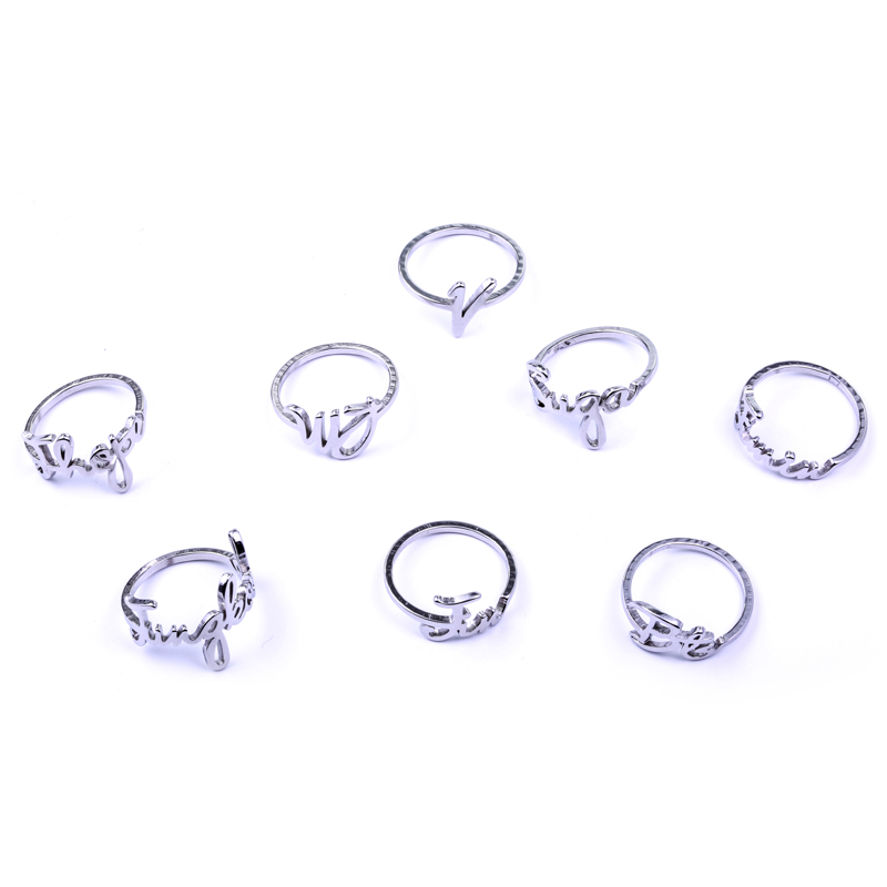 Steady Got7 Fly Hard Carry Jb Mark Jr Album Ring Letter Print Jewelry Rings Accessories For Men And Women Female Male Boy Girl Ring Jewelry & Accessories