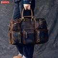 Мужские кожаные сумки в стиле Ретро Crazy Horse  дорожная сумка-мессенджер из натуральной кожи  вместительные сумки через плечо  сумка на плечо