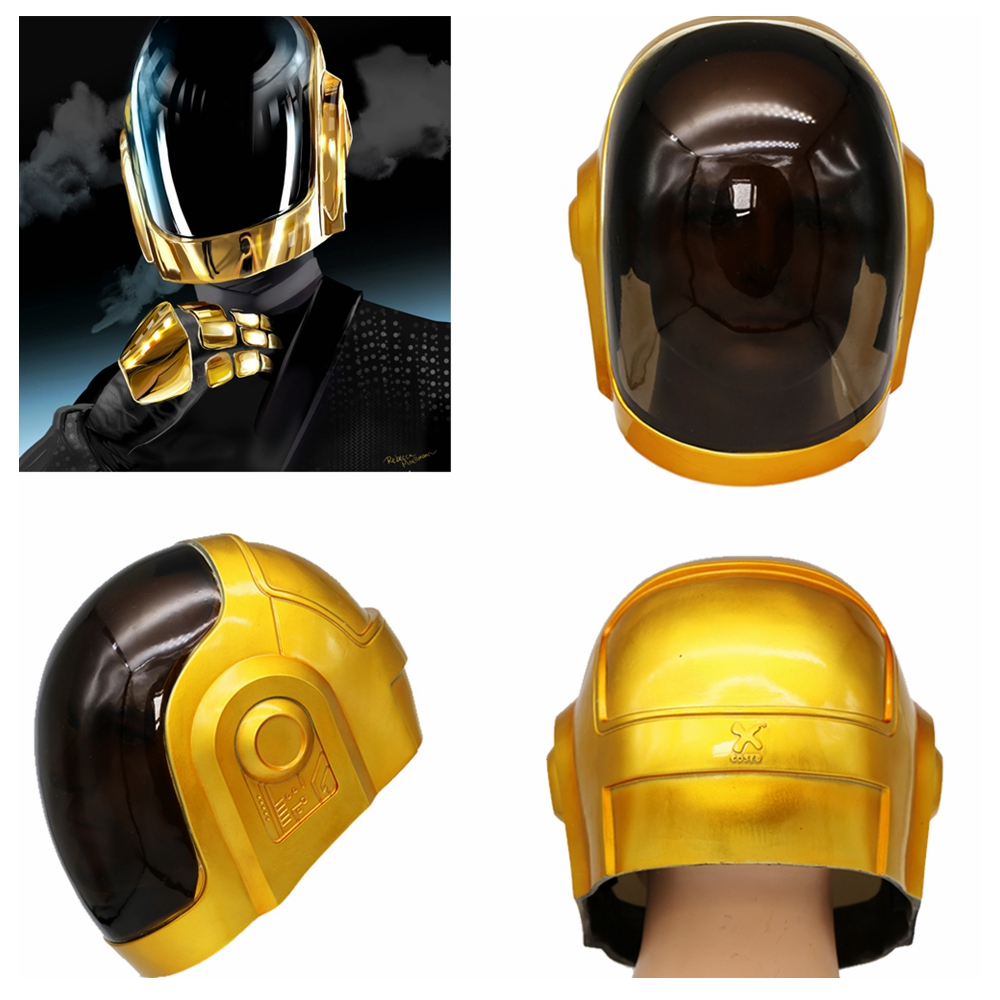 Coslive Daft Punk Helmet Mask Cosplay PVC Full Head Mask Halloween Costume Fancy Props Replica Daft Punk Cosplay Mask For Adults monster printed halloween decor head mask page 8
