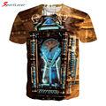 Sportlover Short Sleeve T-Shirt Men Marcas Brand Cloth Print Tee Steampunk Rave Retro Magic Clock Camisetas Hombre T Shirt Homme