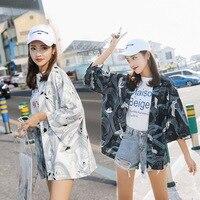 2019 New Harajuku Digital Printed Cardigan Japanese Kimono Summer Loose Shirt Casual Woman Man Kimonos Coat Tops