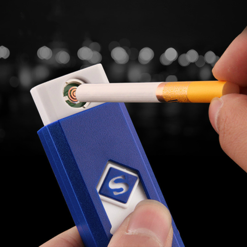 1 PC Windproof Nice Gift Smokeless Flameless USB Charging Lighter Electronic Cigarette Lighters Smoking Accessories