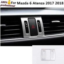 Автомобиль палку Стайлинг крышка ABS Chrome парковки опасности Предупреждение свет на выходе обрезки лампа вытяжки 1 шт. для Mazda 6 atenza 2017 2018