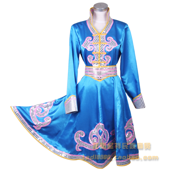 Ethnic garment Mongolia nationality clothing costumes Mongolia stage performance dance stage performance wear Free shipping Multan