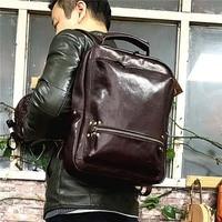 AETOO кожаный рюкзак Винтаж Дерево крем мыть дорожная сумка растительного дубления старый