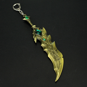 Брелок LOL League Legends, модель lol, брелок для ключей, 17 см, модель оружия, брелок, подвеска, украшения, подарок на день рождения