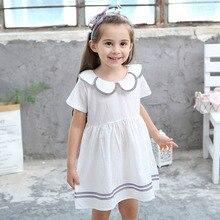 цена на Toddler Girls Summer Tutu Dress White Kids Cotton Baby Girl Clothes Princess Party Dresses for Girls Vestidos 2 3 4 5 6 7 Years