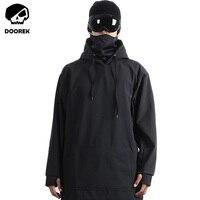 Doorek Professional для мужчин женщин зимняя Лыжная куртка теплые непромокаемые дышащие Лыжный спорт сноуборд лыжная ветровка с капюшоном маска