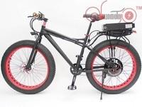 ConhisMotor 48V 500W 26 Fat Tire Wheel eBike Beach Cruiser Snow Electric Bicycle 20AH Rear Li ion Battery Multi Color Rim