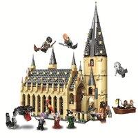 983 шт. Совместимость с legoingly 75954 Harri Potter серии Хогвартс большой зал строительные блоки конструктор развивающий игрушки 11007