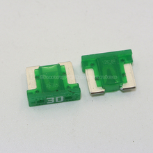10pcs Micro Short Low profile Mini blade 30A amp APS/ATT fuse for Honda Toyota Lexus(China)