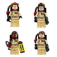 4 sztuk/zestaw kompatybilne bloki superbohaterowie Ghostbusters figurki broń Fastic montaż klocki kolekcja zabawki dla dzieci