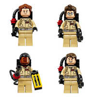 4pcs/Set Compatible Blocks Super Heroes Ghostbusters Figures Weapon Fastic Assemble Building Blocks Collection Toys For Kids