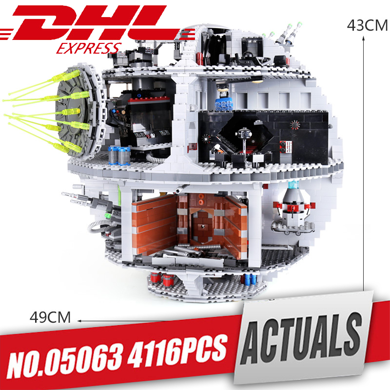 DHL Lepin 05063 05035 05026 Star series Wars orce Waken UCS Death Star Educational Building Blocks Bricks Toys Compatible Legoed new 1685pcs lepin 05036 1685pcs star series tie building fighter educational blocks bricks toys compatible with 75095 wars