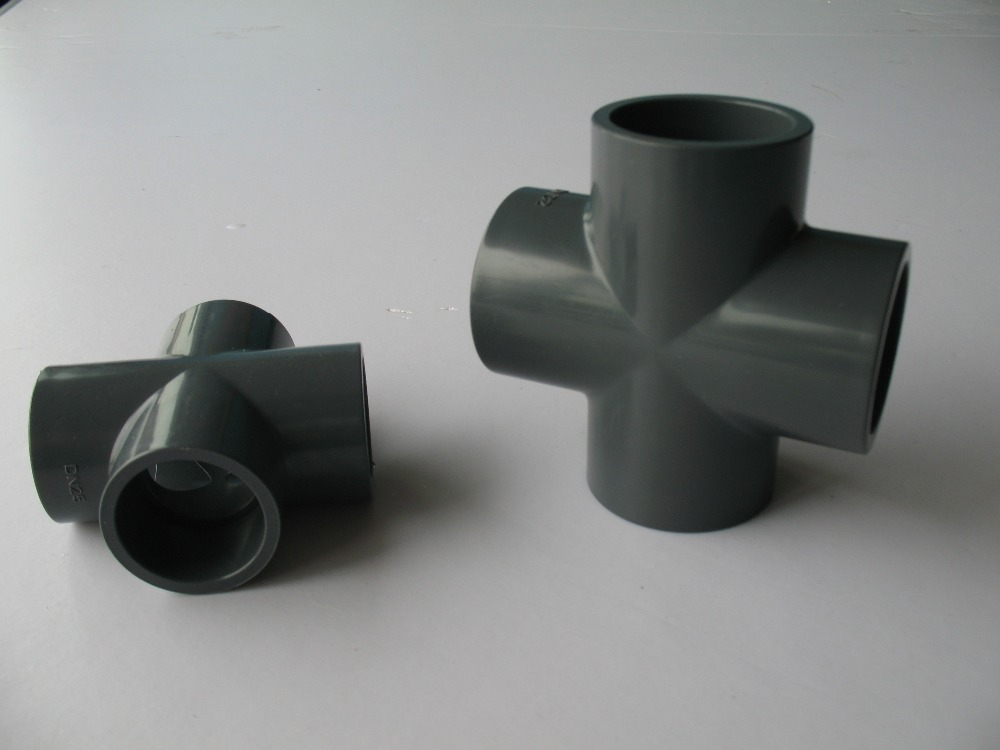 retails and pvc pipe fitting/cross DN50 with good price quality,inside diameter is 63mm