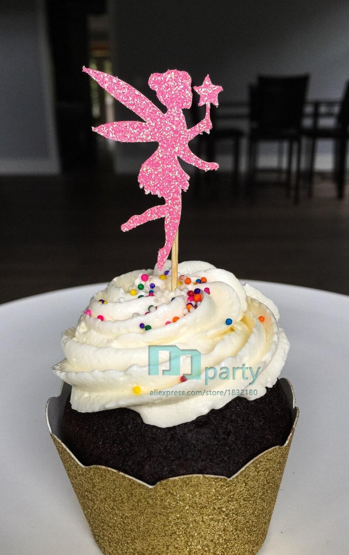 12 Paillettes étoiles Cupcakes Toppers Parti Décoration Cupcake Topper Food drapeaux