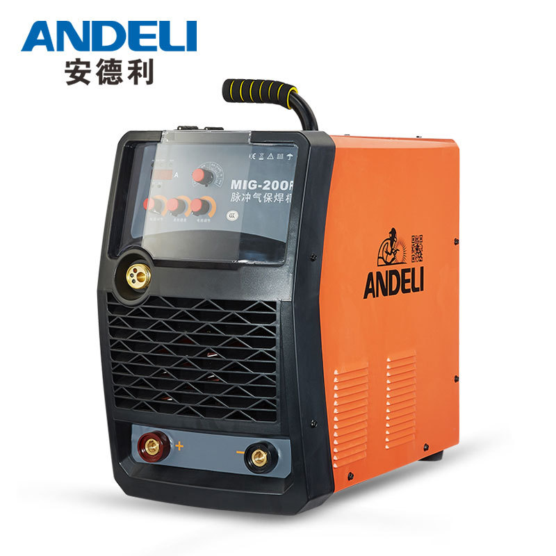 High Frequency mig-200 igbt inverter co2 welding machine Pulse double protected welding 220V 380V gas protection aluminum welder air conditioning