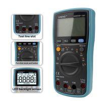 An860b + lcd 6000 contagens digital multímetro backlight ac/dc tensão atual resistência frequência temperatura tester|Multímetros| |  -