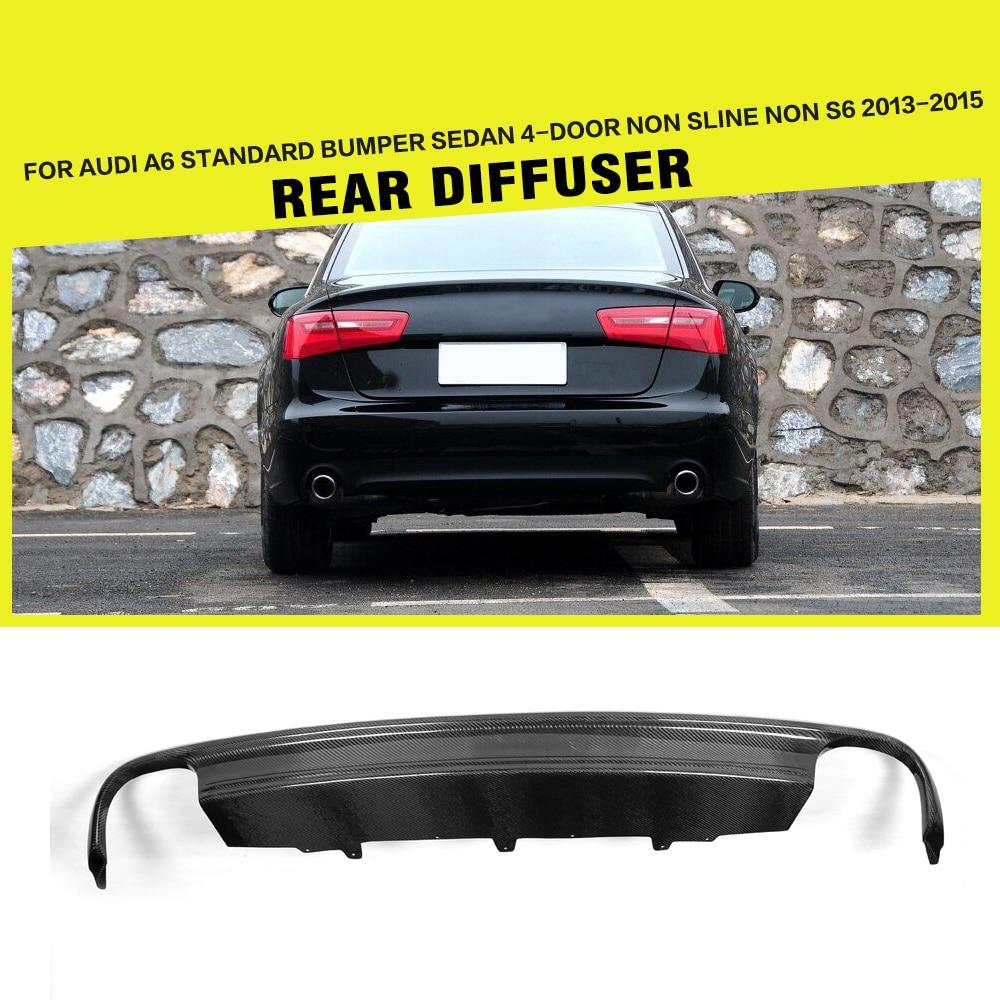Carbon Fiber / FRP Auto Car Styling Rear Diffuser Bumper Guard for Audi A6 4 Door 2013   2015 rear bumper diffuser bumper diffuser diffuser for audi - title=