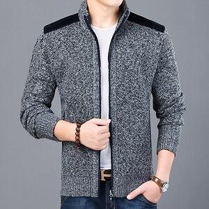 Image 4 - 2020 maglione spesso nuovo marchio di moda per Cardigan da uomo maglioni Slim Fit maglieria autunno caldo Casual stile coreano abbigliamento uomo
