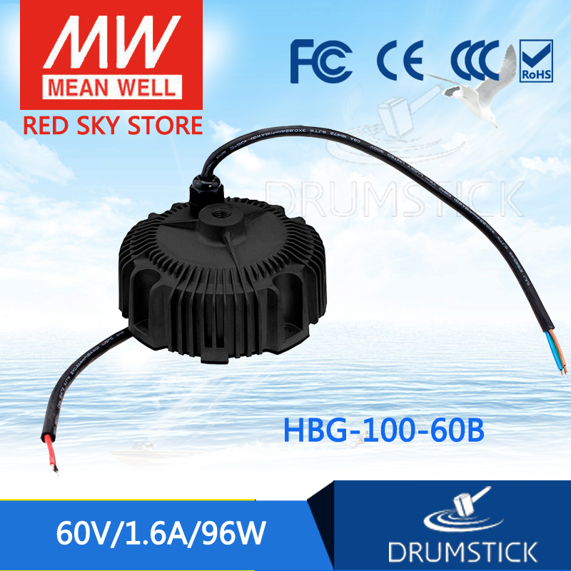 все цены на MEAN WELL HBG-100-60B 60V 1.6A meanwell HBG-100 60V 96W Single Output LED Driver Power Supply онлайн