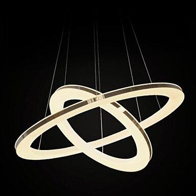 40 см Chic Нержавеющаясталь покрытие Современные LED Открытый Подвесные Светильники лампы, люстры е pendentes де Сала