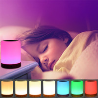 KMASHI Touch Lights Sensor Tap Control Night Light Children Baby Kids 7 Colors Rainbow Bedside Table
