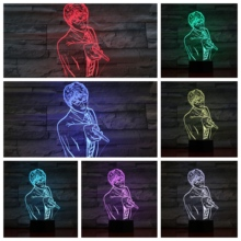 Music Conductor Usb 3d Led Night Light Multicolor Rgb Boys Child Kids Baby Birthday Gifts luminaria Table Lamp Bedside Neon sale novelty buddha usb 3d night light atmosphere led bulbs luminaria nights lamp christmas birthday gifts table rgb lamparas