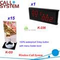 Sistema de chamada para restaurante do café de serviço com número e botão de pressão