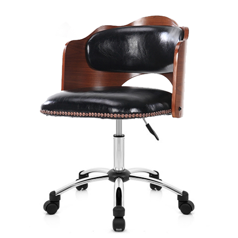 European 2019 Stylestudent Chair Backchair Revolving Chair Solid Wood Staff Member Chair Household Small Chair