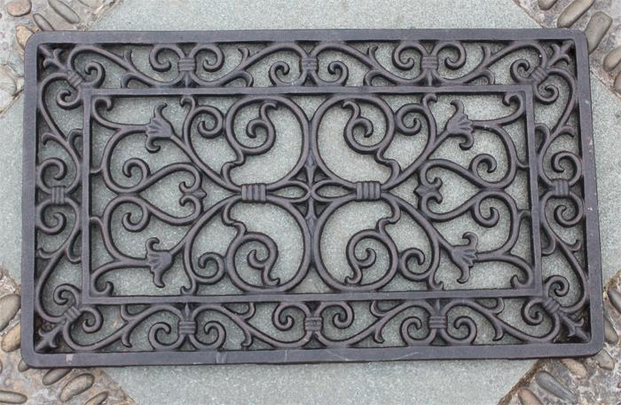 decorativos de hierro forjado de puerta felpudo estera al aire libre jardn rectangular x