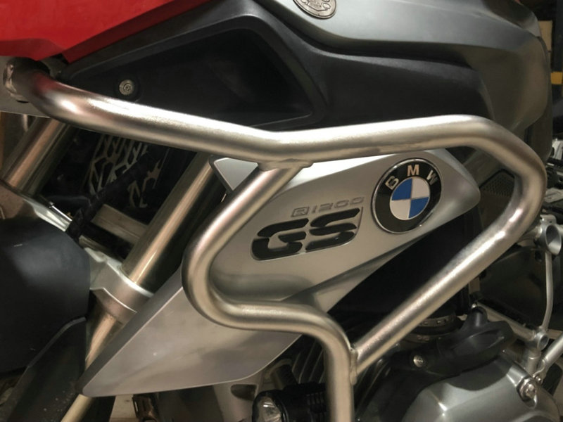 PARAURTI Acqua di raffreddamento SUPERIORE CRASH BAR ESTENSIONI PER BMW R1200GS LC-ON