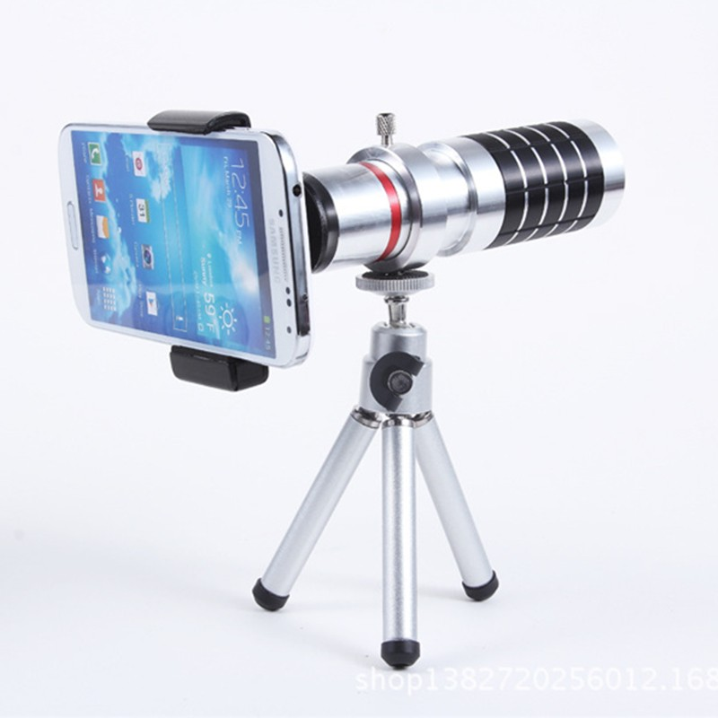 ORBMART Universal 16X Zoom Telescope Camera Mobile Phone Lens + Mini Tripod + Adjustable Clip For Samsung iPhone Redmi Note 3
