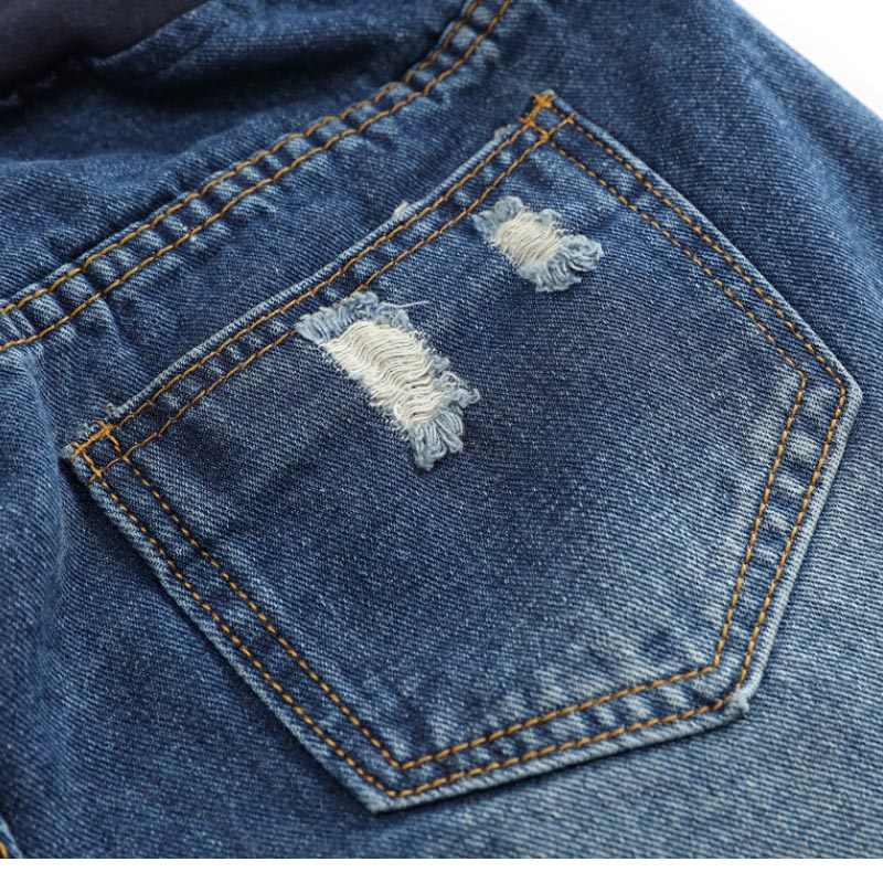 3182b16103a9f ... Pregnant Women Maternity Wear Low-waisted Denim Jean Hole Shorts Prop  Belly Elastic Waist Pregnancy ...