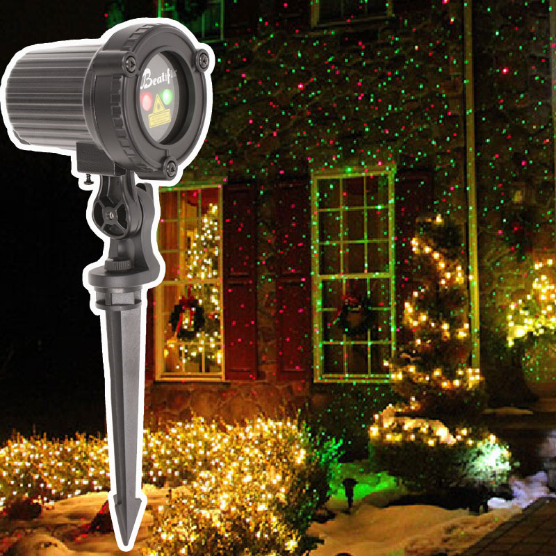 2018 Star Christmas Lights Outdoor Laser Projector Showers Christmas Tree Light Holiday Decorations for Home skidproof christmas baubles tree pattern rug